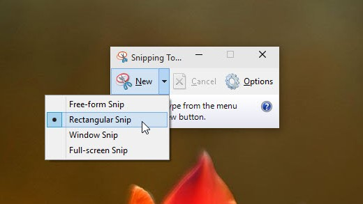 how to take screen shot in Windows 10 using Snipping Tool
