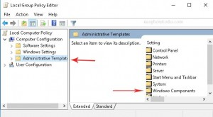 administrativ templates windows components in local group policy windows 10