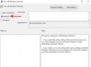 click enabled option in turn off windows defender in local group policy windows 10